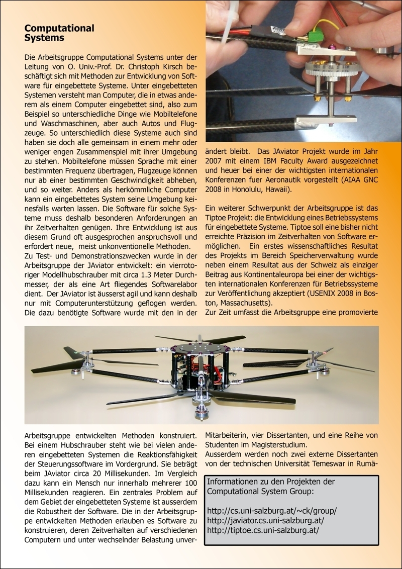 javiator press computer science department brochure insert