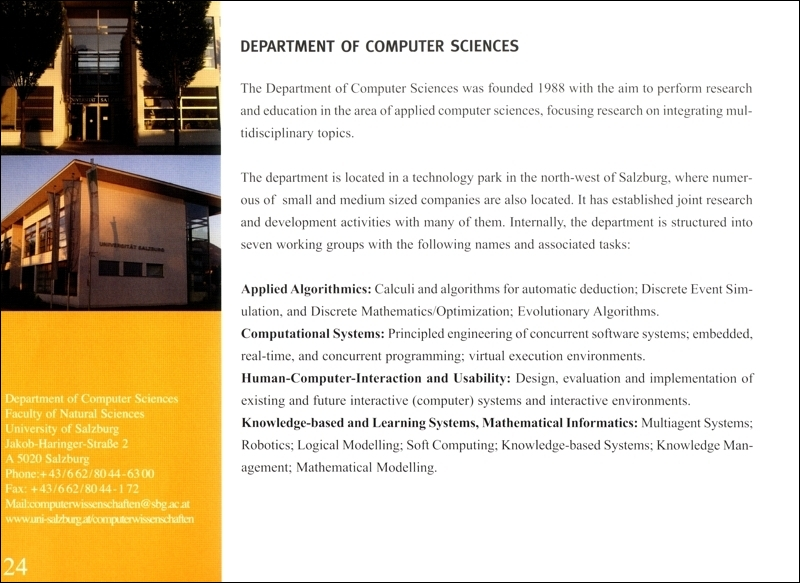 javiator press faculty of natural sciences brochure insert